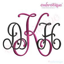 letter monogram embroitique kennedy interlocking monogram font set