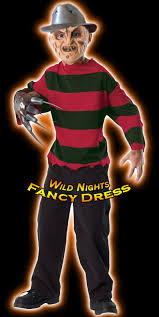 Halloween Freddy Krueger Costume Halloween Fancy Dress Child Freddy Krueger Lg 8 10