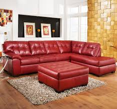 Red Leather Chaise Lounge Chairs Red Sectional Sofa With Recliner Centerfieldbar Com