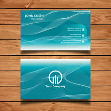 Marine Business Cards Business Card With Water Waves Vector Free Download