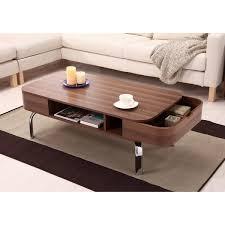 furniture of america berkley mid century modern walnut coffee