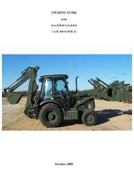 backhoe loader student guide arm loader equipment