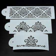 Damask Stencil For Cake Decorating