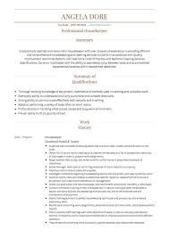 Resume Sample For Housekeeping by Housekeeping Cv Examples And Template