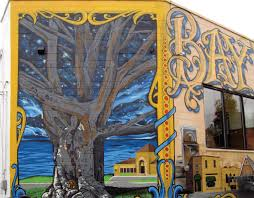 new bay view mural highlights neighborhood s historic landmarks the copper beech tree and lopez painted the lettering and some buildings ebert himself painted the remainder of the mural from the avalon to about