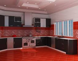 Cherry Red Kitchen Cabinets Wonderful Red Kitchen Cabinets Combine With Wall Color Paint