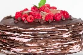 foodista chocolate raspberry crepe cake for mother u0027s day