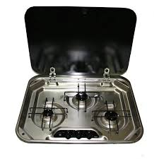 Gas Stainless Steel Cooktop Smev 3 Gas Burner Stainless Steel Cooktop With Glass Lid Buy It