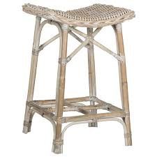 safavieh rayna white washed rattan 27 6 inch stool by safavieh