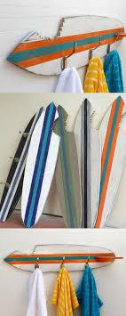 home decor and renovations beachy towel hooks shark bite surfboard wood custom home decor