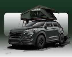 jeep compass tent hyundai tucson u0027adventuremobile u0027 gets rooftop tent for sema