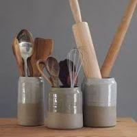Kitchen Utensil Holder Ideas Kitchen Utensils Jar Justsingit