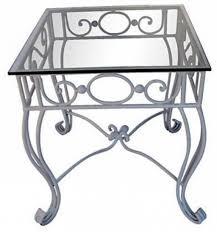 coffee table wrought iron glass top coffee table black rod iron