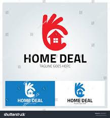 best home logo home deal logo design template best stock vector 459537067