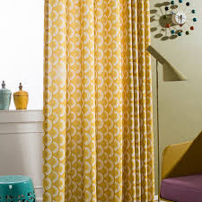 Pattern Window Curtains Aliexpress Com Buy Fish Scale Pattern Yellow Window Curtain For