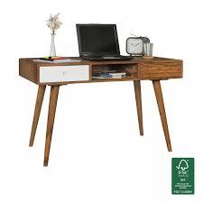 Schreibtisch Schwarz Holz Finebuy Schreibtisch 120 X 60 X 75 Cm Massiv Holz Laptoptisch