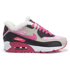 nike winter boots womens canada 2015 nike air max 90 plush pink grey black winter shoes