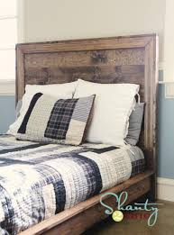the hailey planked diy headboard from shanty2chic has a cool