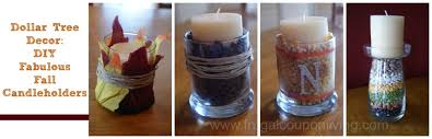 dollar tree fall decor decorate with autumn candles on a frugal