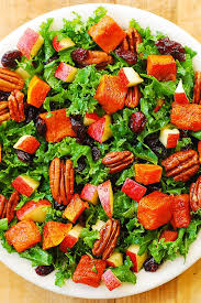 butternut squash kale pecan cranberry apple salad s album