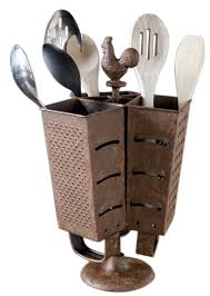 amazon com rustic rooster grater utensil holder farmhouse style