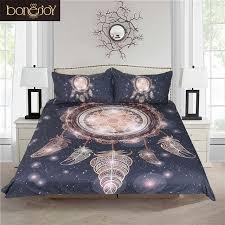 bonenjoy dream catcher bedding galaxy duvet cover sets black and