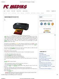 reset canon ip2770 blinking canon pixma ip2770 resetter pc mediks printer computing