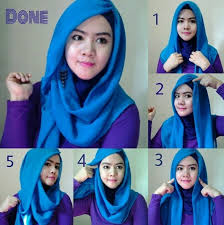 tutorial jilbab segi 4 untuk kebaya model hijab segi empat simple untuk wajah bulat fashion muslim modern