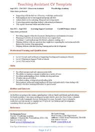 cover letter for a teaching assistant job resume outline free