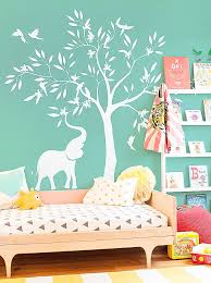 White Tree Wall Decal For Nursery Wall Decals Elephant Wall Decals For Nursery High