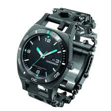 leatherman bracelet images Leatherman tread tempo multi tool watch in black dlc at swiss jpg