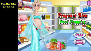 đ frozen games pregnant food shopping game