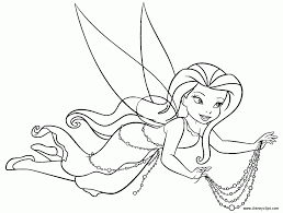 free printable disney fairy silvermist coloring pages to print