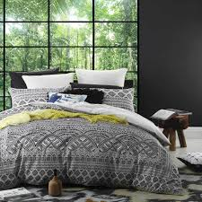 logan u0026 mason maasai ink single bed quilt cover set in 2 linen