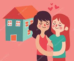 Neues Einfamilienhaus Kaufen Paar Ein Neues Haus Kaufen U2014 Stockvektor 87975266