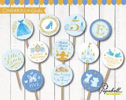 Cinderella Cupcakes Cinderella Cupcake Toppers Cake Topper Disney Princess