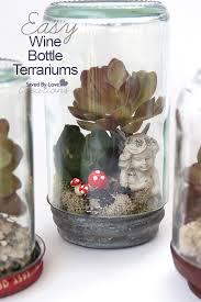 Upcycled Wine Bottles - upcycle wine bottles to terrarium wonderlands