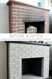 ugly brick fireplace before and after remodel painted redo with