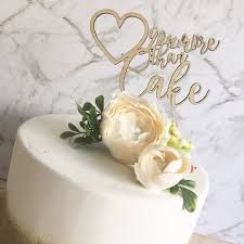 glitter cake topper rustic wood cake topper you more than cake cake topper