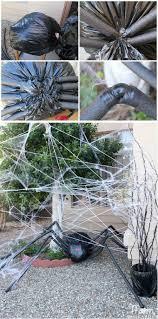 outdoor halloween spider decorations