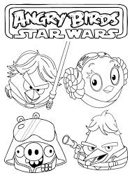 free printable star wars coloring pages angry birds szinezok 27 star wars angry birds pinterest