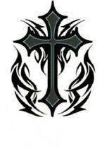 impressive free design tribal cross tattoos set concept of free