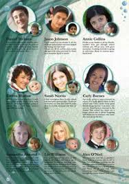baby yearbook could maybe do this for baby photos page water goes along with