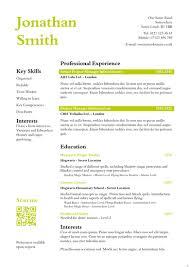 Killer Resume Template Best Cv Template Uk