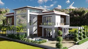 sketchup modeling lumion render 2 stories villa design size 13 8