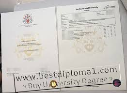 northumbria university fake diploma with transcript templates buy