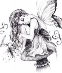 pencil drawings of fairies drawing sketch library