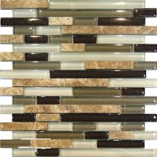 Green Tile Kitchen Backsplash by Sample Marble Green Brown Glass Linear Mosaic Tile Backsplash