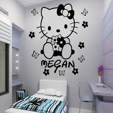 adesivos para parede hello kitty personalised kids girls room wall adesivos para parede hello kitty personalised kids girls room wall art decal home decoration beautiful any name wall stickers in wall stickers from home