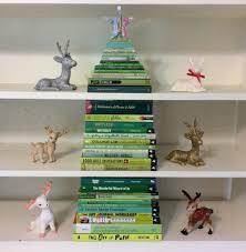 stack of green books makes a fun christmas tree a christmas tree
